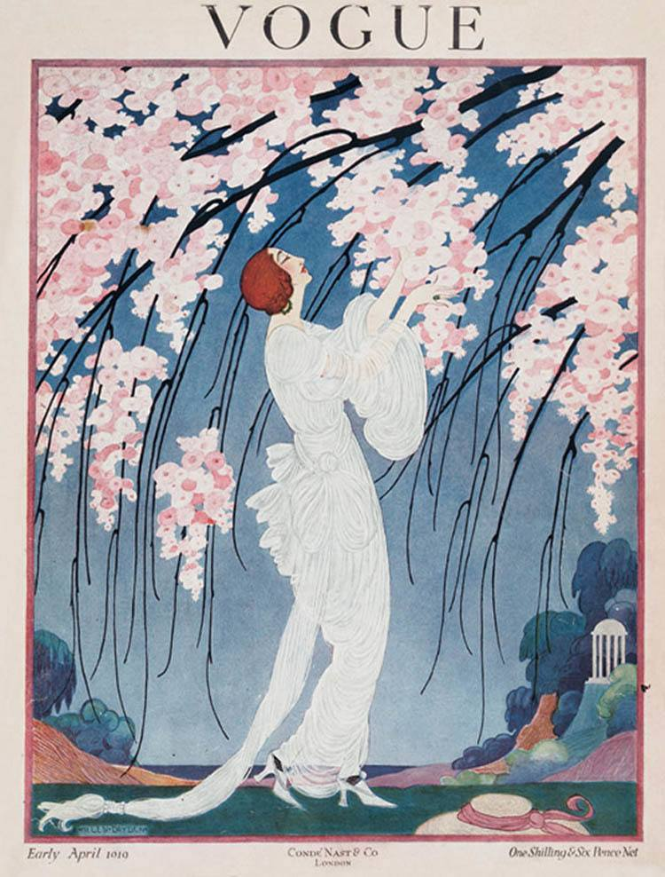 Vintage Vogue Covers Cherry Blossoms