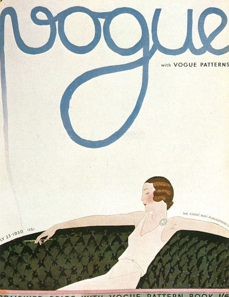Vintage Vogue Covers Fainting Couch