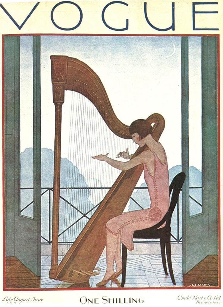 Vintage Vogue Covers Harp