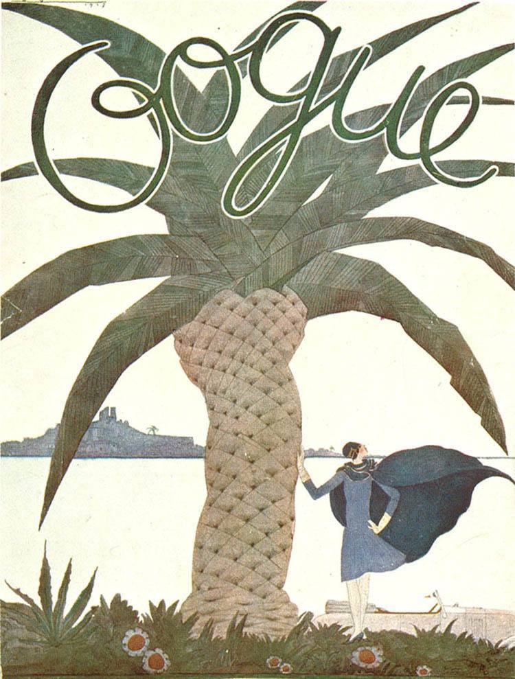 Vintage Vogue Covers Palm Tree