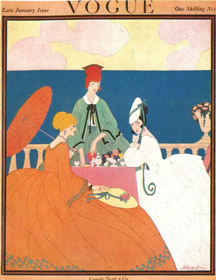Vintage Vogue Covers Parasol Picnic