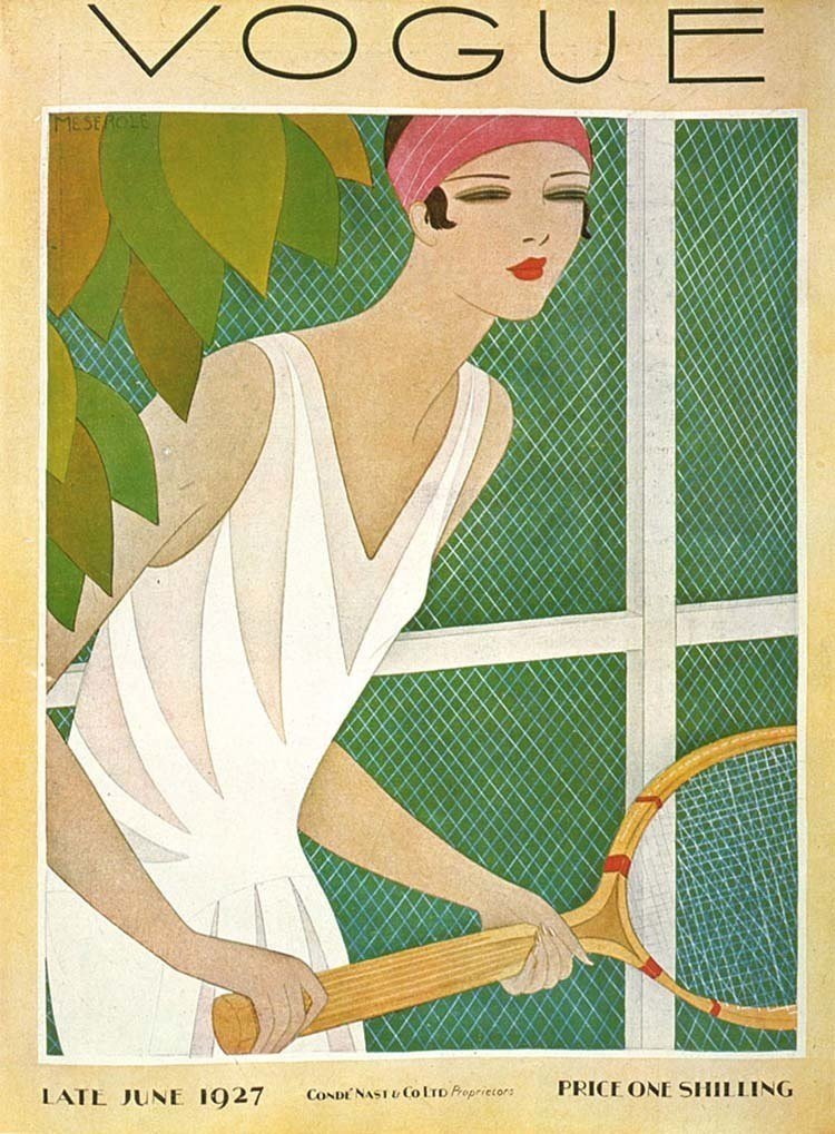 Vintage Vogue Covers Tennis