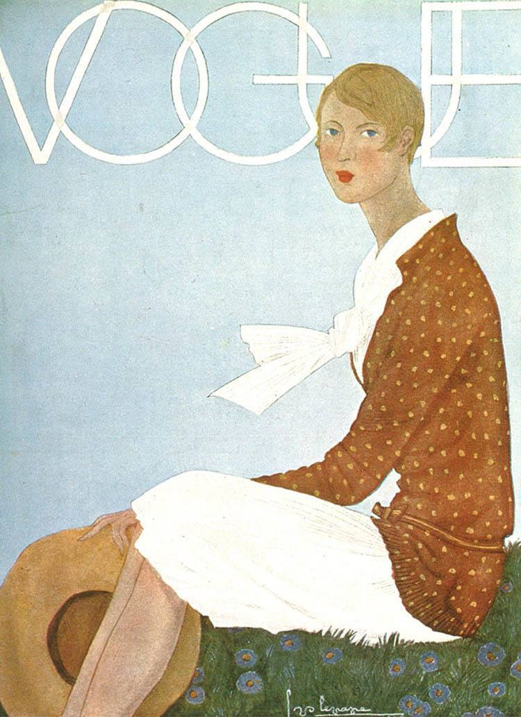 Vintage Vogue Covers White Scarf