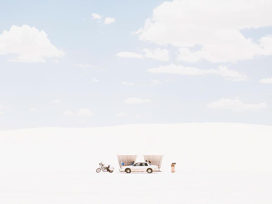White Sand Car Sky