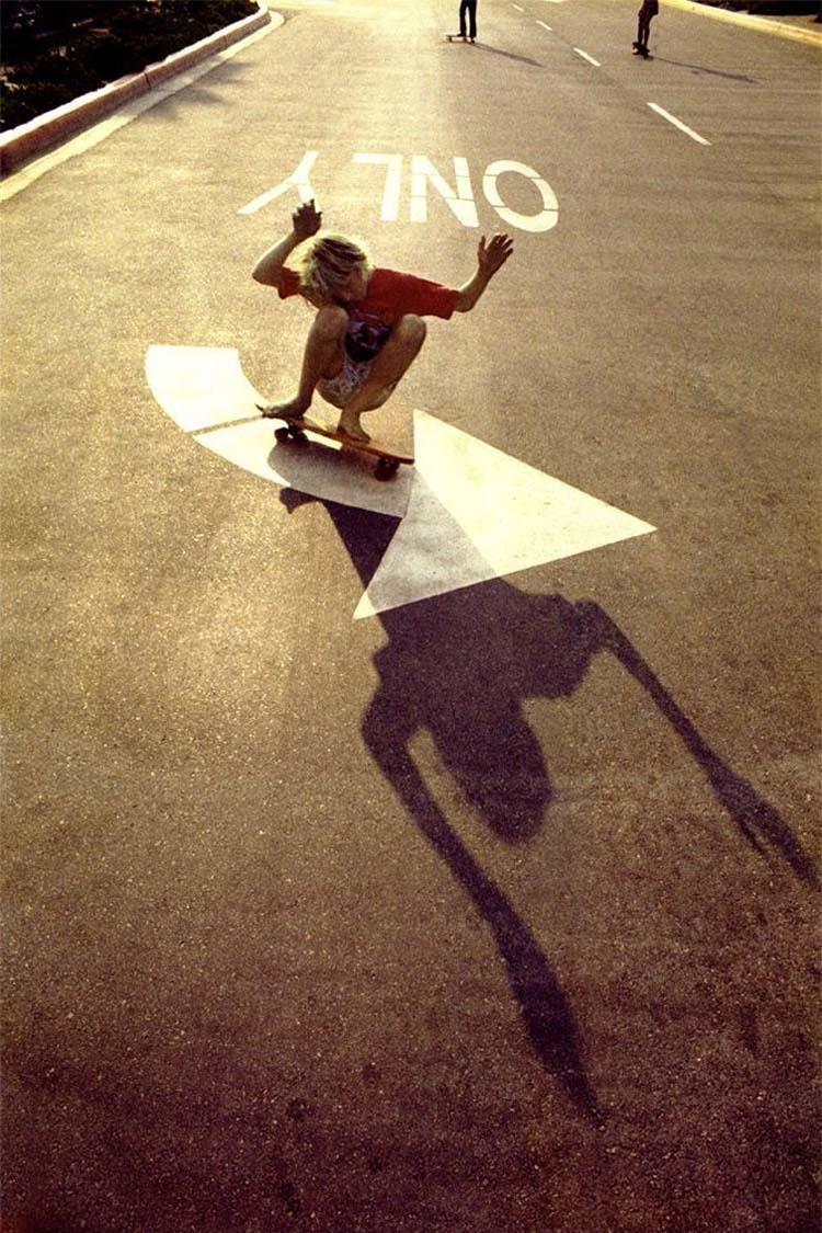 70s Skateboard Culture Left Turn