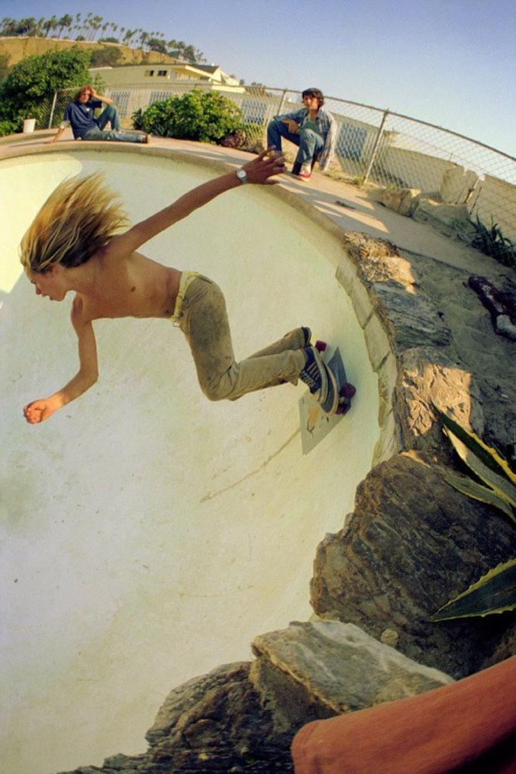 70s Skateboard Culture Over Light