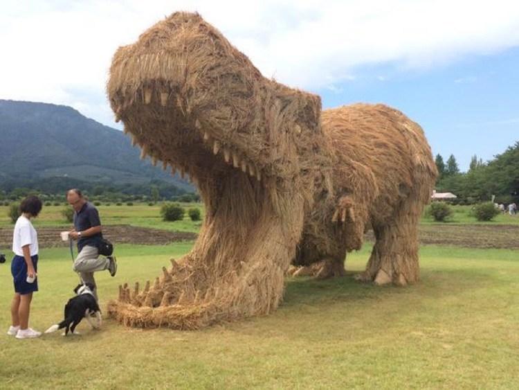 Japanese Straw Sculptures TRex