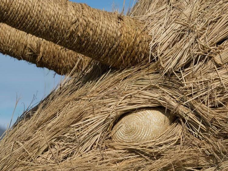 Japanese Straw Sculptures Closeup