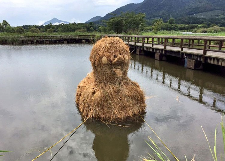 Japanese Straw Sculptures Duck