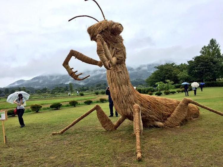 Японский соломы Скульптуры Mantis