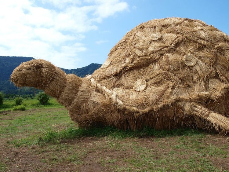 Japanese Straw Sculptures Turtle