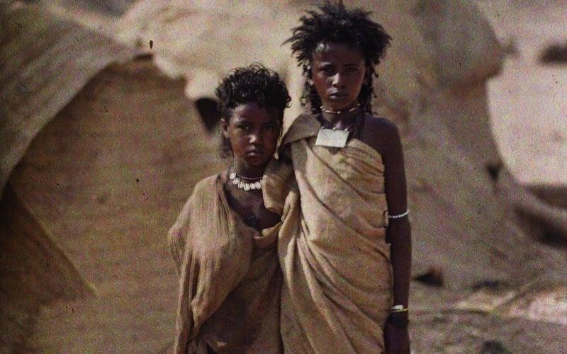 Bishari Girls In Egypt Albert Kahn