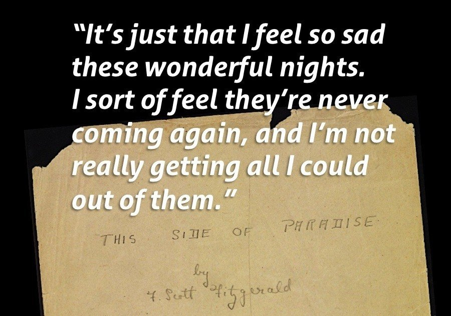 Amory Blaine Wonderful Nights Fitzgerald