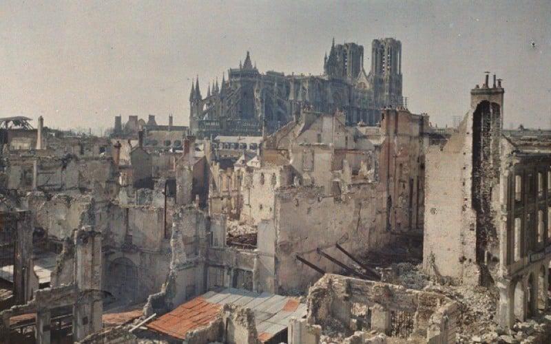 WWI Destruction In Reims