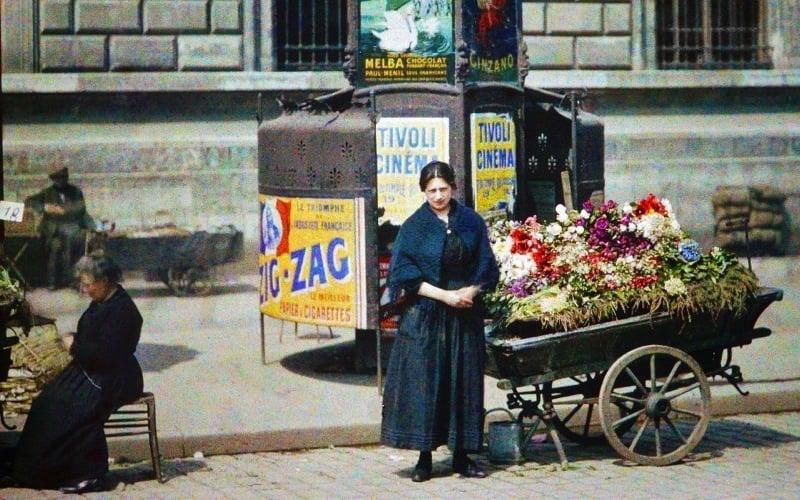 Flower Seller Paris France