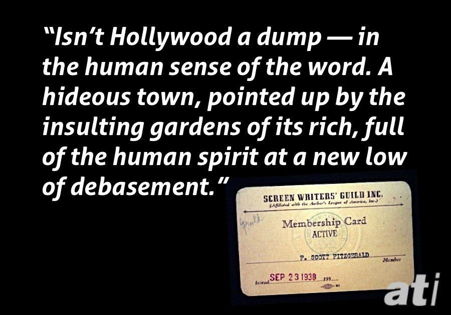 Fitzgerald Hollywood Is A Dump