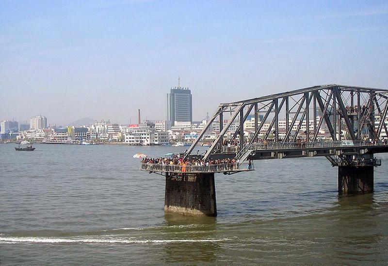 Aerial Borders Broken Bridge