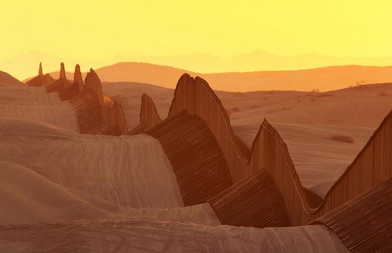 Aerial Borders Dune Fence