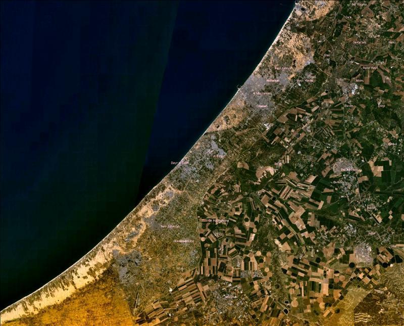 Aerial Borders Gaza Satellite
