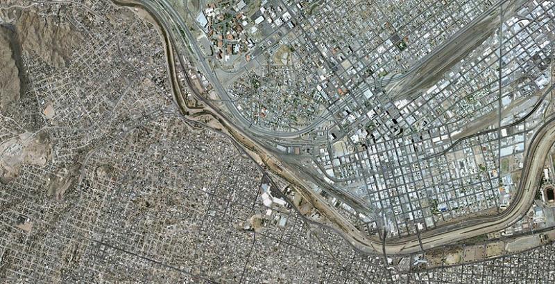 Aerial Borders Juarez Elpaso