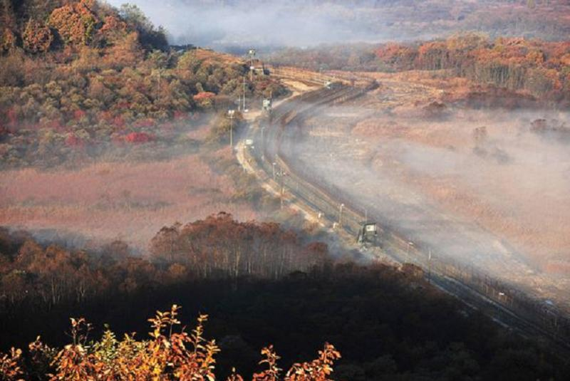 Aerial Borders Korean Dmz