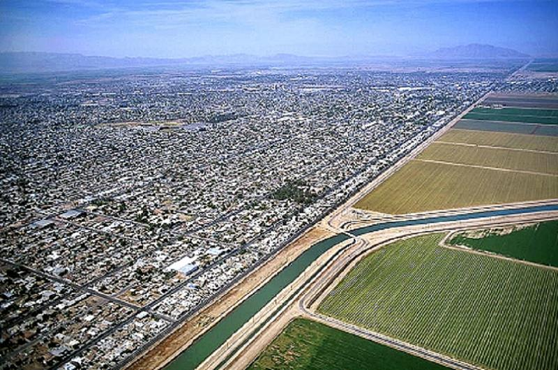 Aerial Borders Mexicali Farms