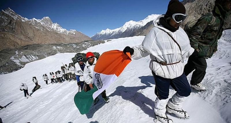 Aerial Borders Siachen Flag