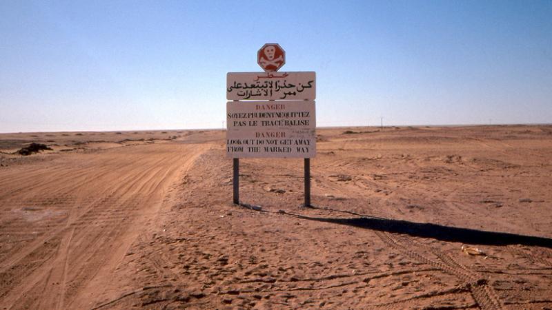 Aerial Borders Tanezrouft Minefield