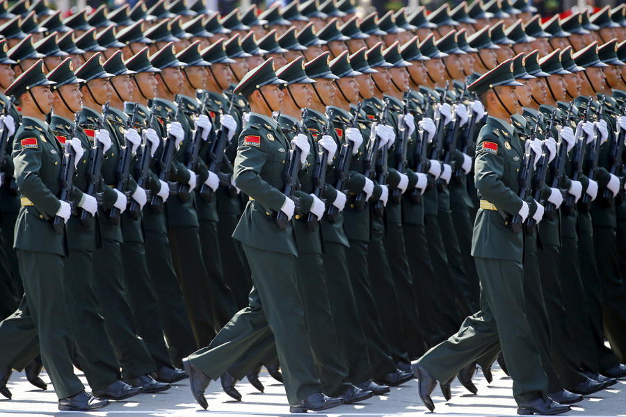 China Military Parade Soldiers