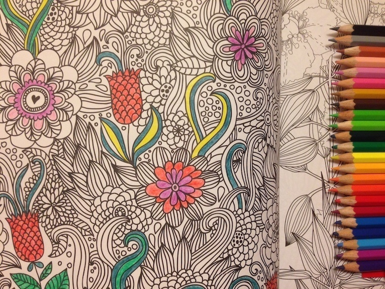 Adult Coloring Books Cafe Ellas