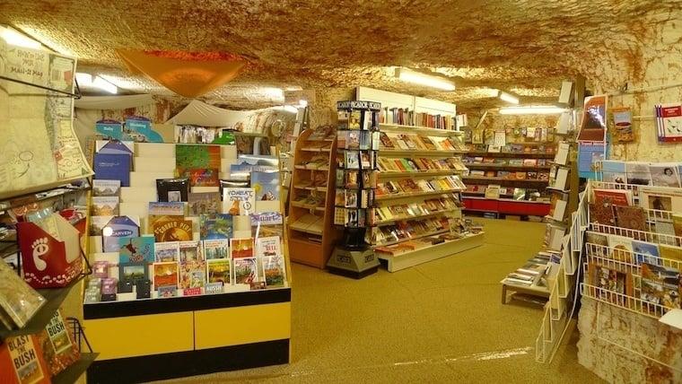 Coober Pedy Inside Bookstore