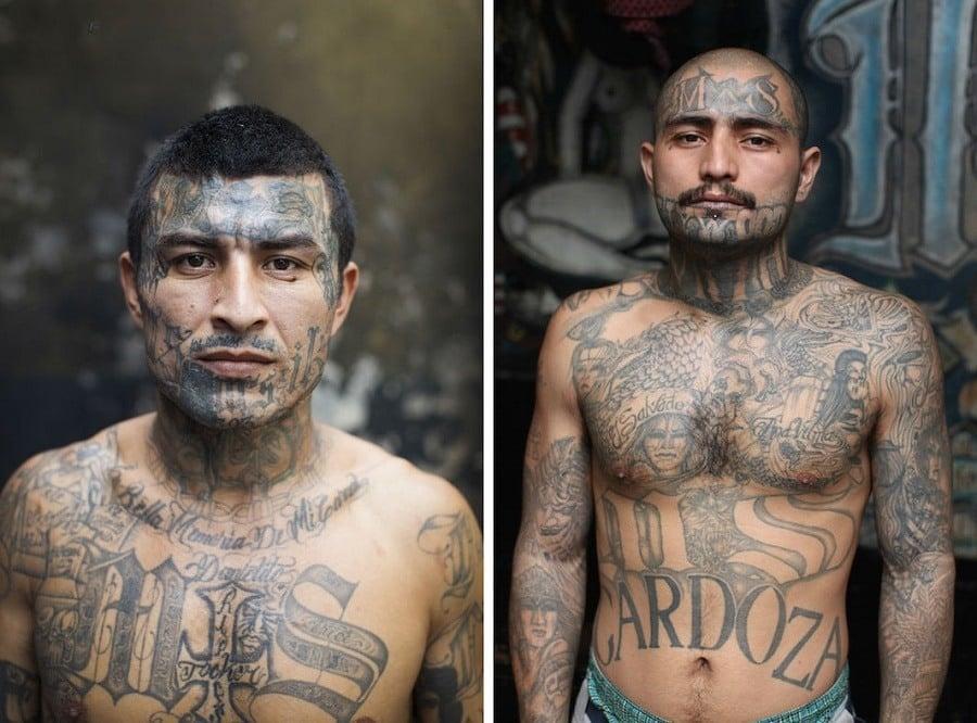 El Salvador Gang Tattoos