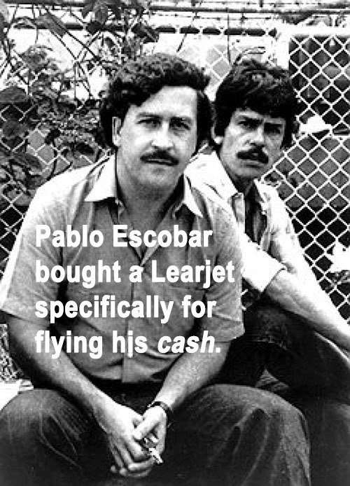 Pablo Escobar Learjet