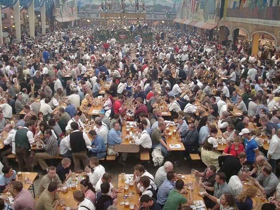 Historic Oktoberfest Crowds