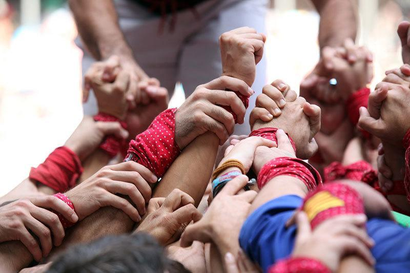 Human Tower Competition Close Up