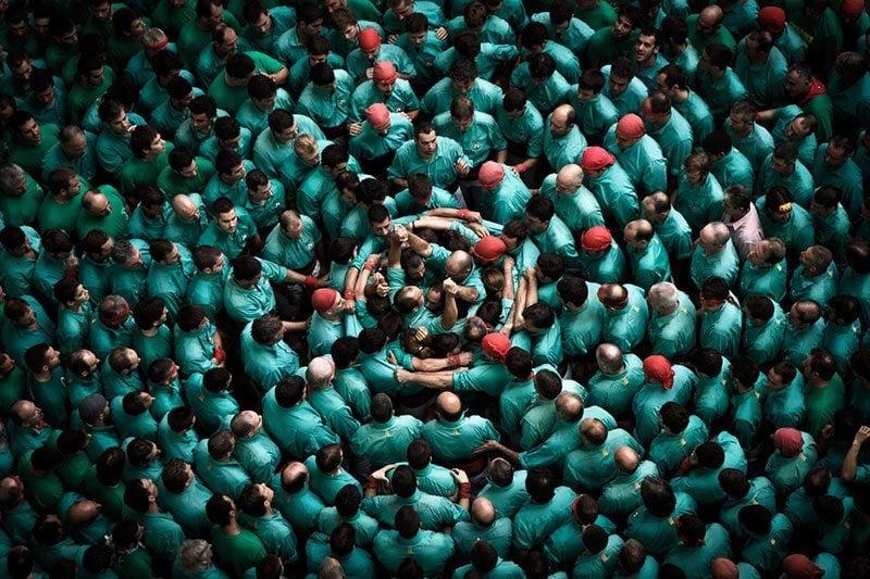Castellers Human Spiral