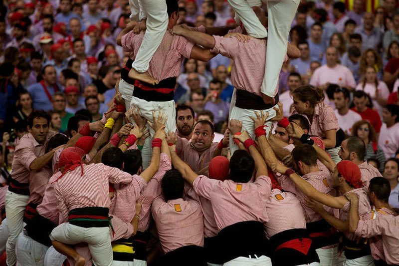 Human Tower Competition Human Tarragona