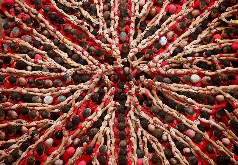 Human Tower Competition Spain