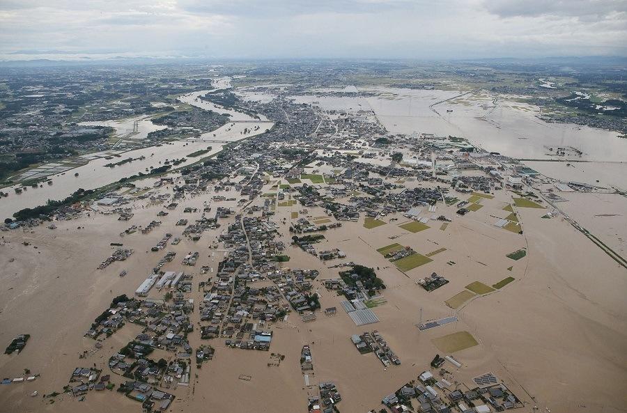 Japan Flooding Aerial