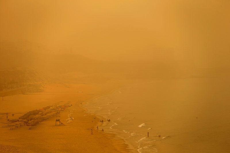 Lebanon Sandstorm Beirut