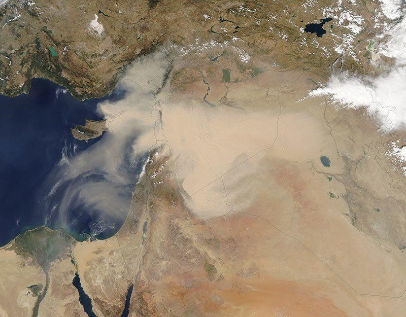 Lebanon Sandstorm Nasa