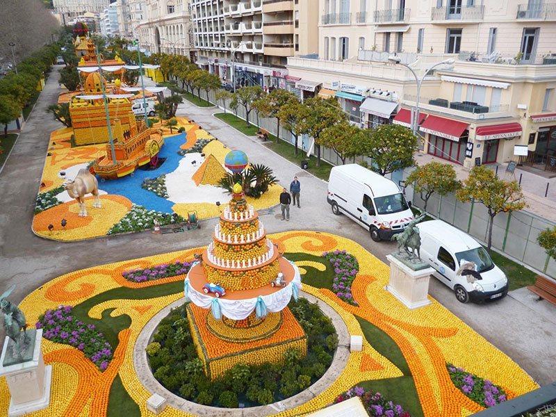 Aerial Festival of Lemons