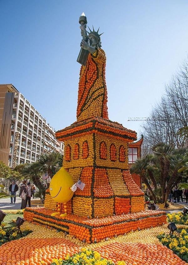 Fete du Citron Statue Liberty