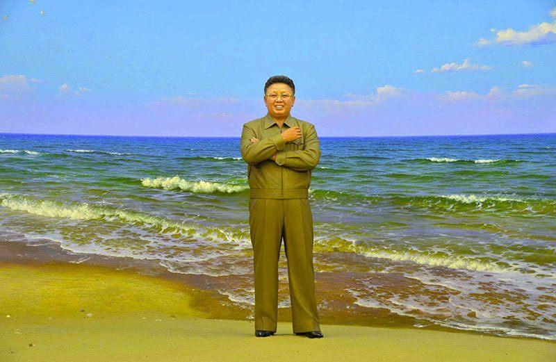 Plaster Statue Kim Jong II