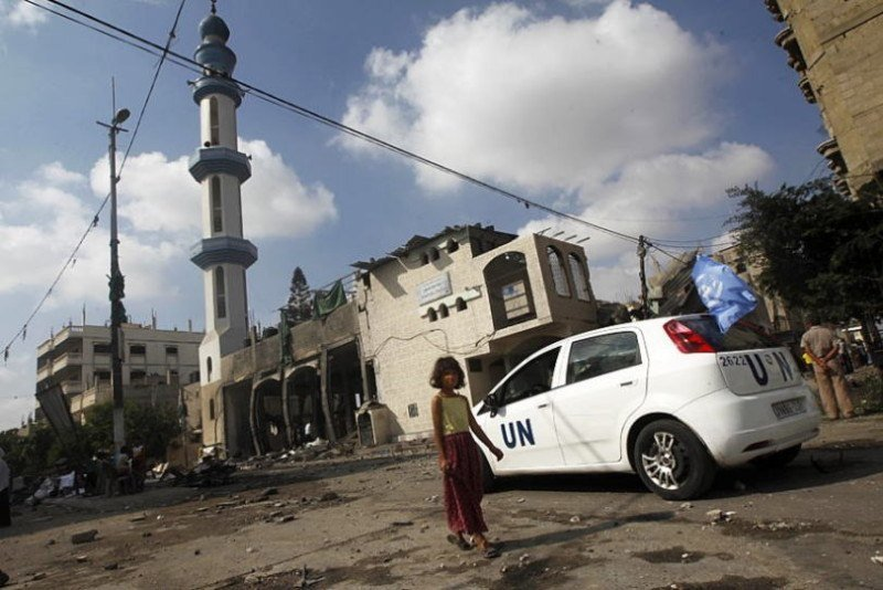 Occupied Palestine UNRWA Vehicle