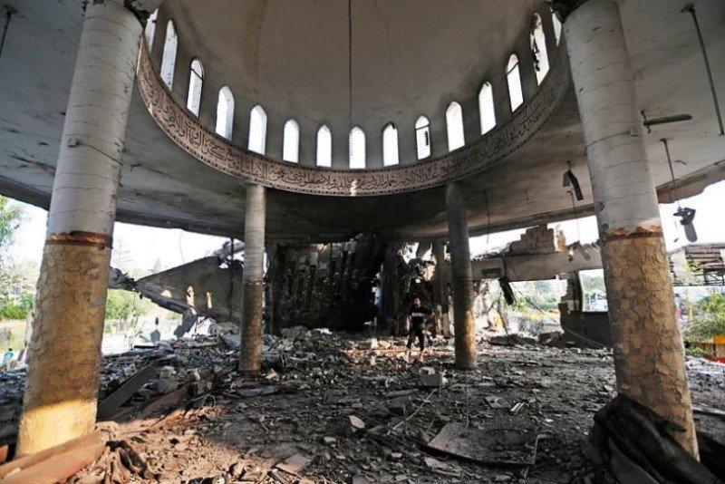 Occupied Palestine Al Aqsa Mosque Wreckage