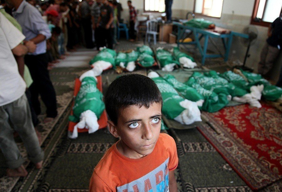 Occupied Palestine Boy Corpses