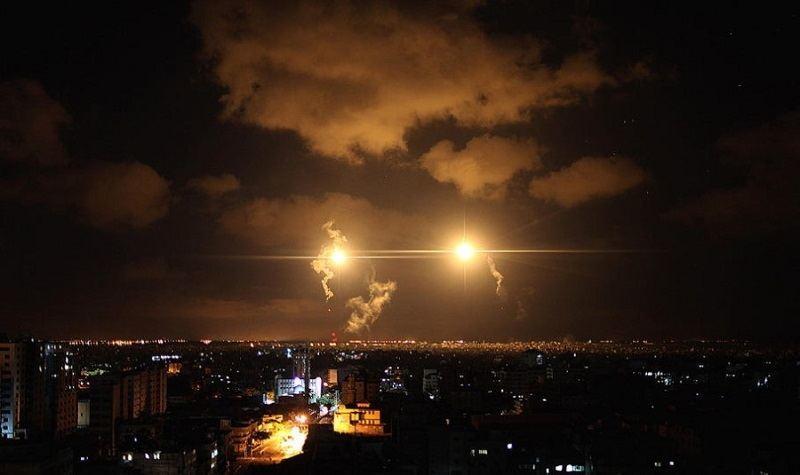 Occupied Palestine Flares Gaza