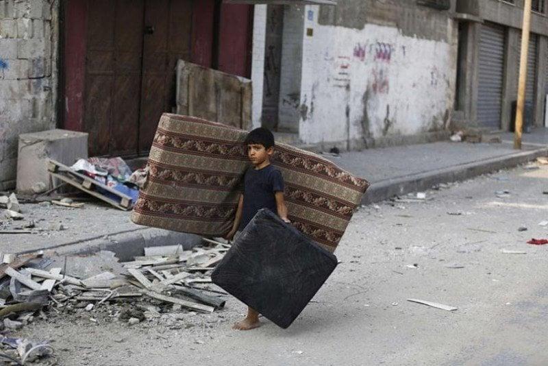 Occupied Palestine Mattress Boy