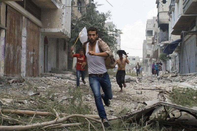 Occupied Palestine Running Shejaia